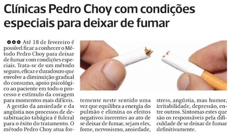 Quem realmente deixou também de fumar que ajudou